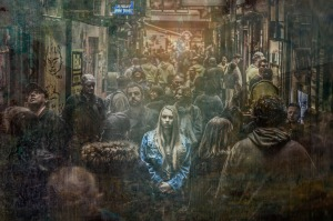 alone,sad,depression,loneliness,young,depressed,woman,thinking,unhappy,stress,expression,sorrow,emotion,emotional,anxiety,crowd,dark,adult,grief,girl, DON CHARISMA