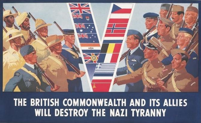 THE BRITISH COMMONWEALTH AND ITS ALLIES WILL DESTROY THE NAZI TYRANNY, DON CHARISMA