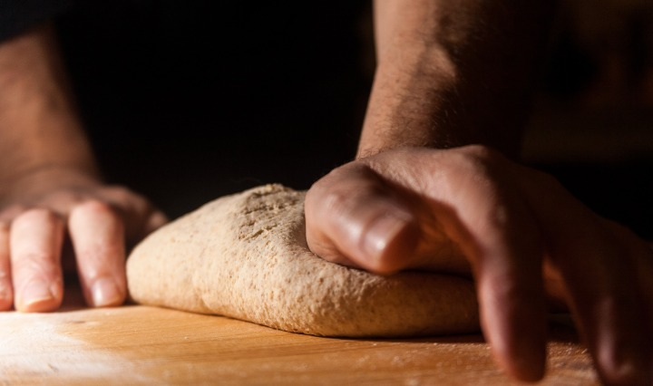 flour,dough,knead,kitchen,food,hand,hands,wheat,baker,preparation,ingredients,bread,sicily,italy, DON CHARISMA