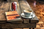 coffee, break, good, book, closeup, photography, paulo coelho, alchemist book, white, ceramic, teacup, saucer plate, stainless, steel teaspoon, wooden, table, cafe, reading, parquet floor, rustic, relaxing, cup and saucer, food and drink, drink, coffee - drink, cup, wood - material, coffee cup, refreshment, mug, food, spoon, still life, eating utensil, freshness, kitchen utensil, saucer, text, crockery, no people, hot drink, tray, breakfast, DON CHARISMA