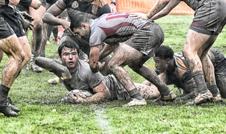 rugby,mud,try,college, DON CHARISMA